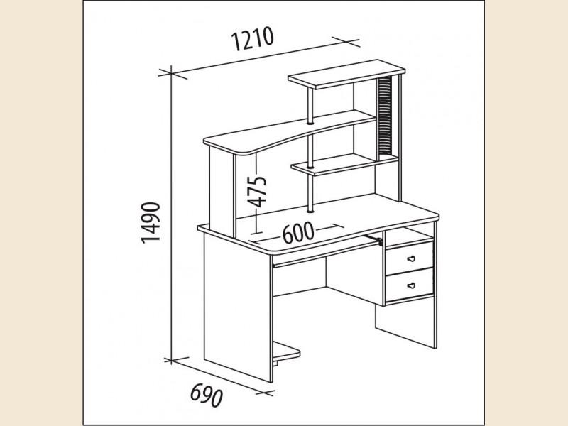 Компьютерный стол фортуна-16.1 - купить в москве.